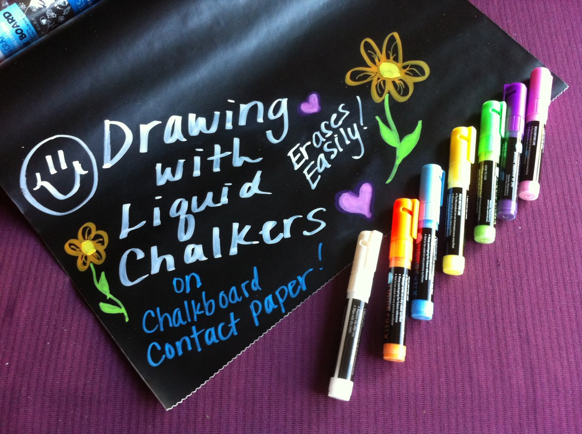 Drawing With Liquid Chalkers