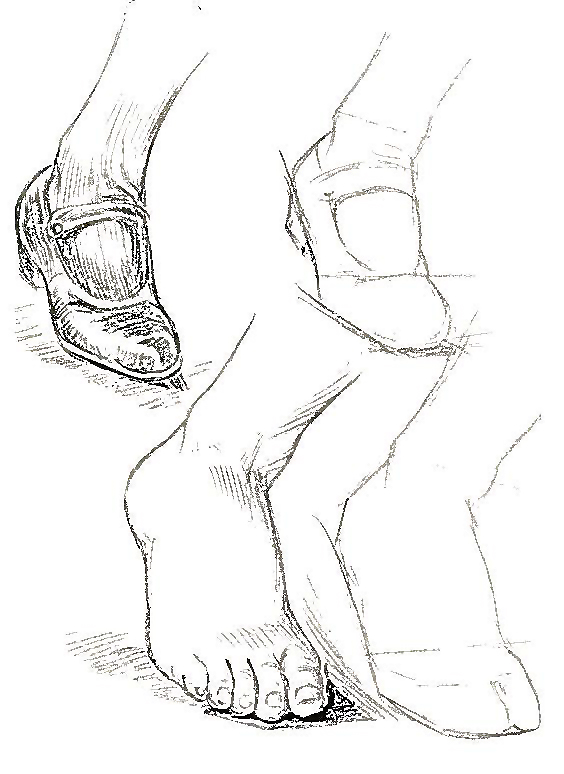 How to Draw Feet and Toes with Human Foot Drawing lessons