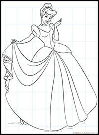 How to Draw Disney's Cinderella Cartoon Characters