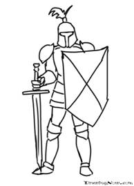 How to Draw Knights Cartoon Characters : Drawing Tutorials