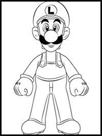 How to Draw Super Mario Bros Characters Mario, Luigi