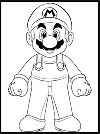 How to Draw Super Mario Bros Characters Mario, Luigi