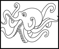 How to Draw Octopus : Drawing Tutorials & Drawing & How to
