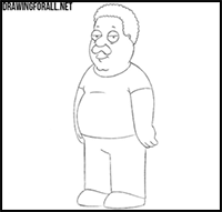 How to Draw Family Guy Cartoon Characters : Drawing