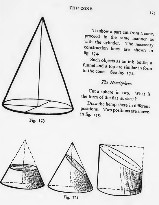 How to Draw Cones & Hemispheres with these Drawing Lessons