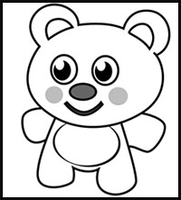 How To Draw Teddy Bears With Hearts With Easy Step By Step Valentine S Day Drawing Tutorials Lessons For Kids And Children
