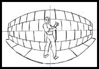 Multiple Point Curvilinear Perspective Drawing Lessons