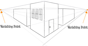 Two Point Perspective Drawing Lessons : How to Draw