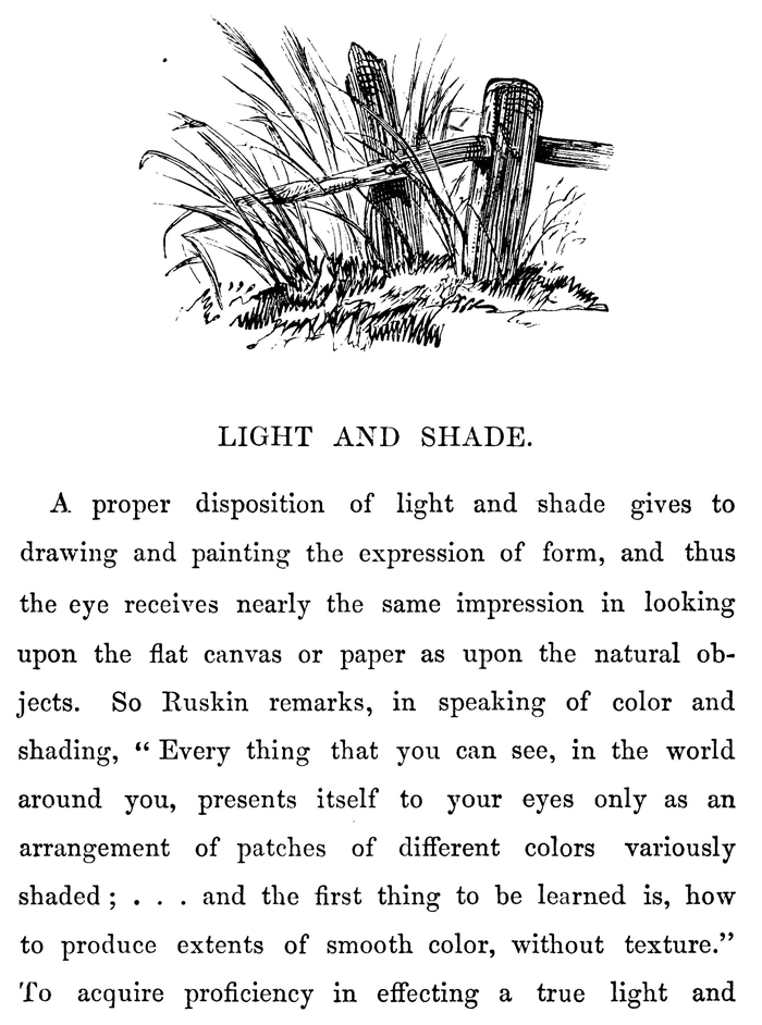 Shadows & Lights by Drawing Lines with Hatching