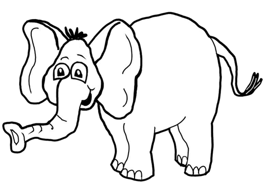 finished drawing How to Draw Cartoon Elephants / African