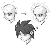 draw manga anime hair