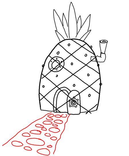 How to Draw Spongebob Squarepants' Pineapple House with