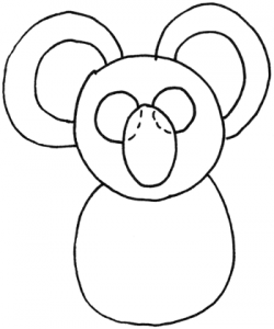 Step 3 How to Draw Cartoon Koala Bears) with Drawing