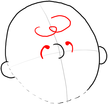3 Curved Lines With Circle Around It Letter With Circle