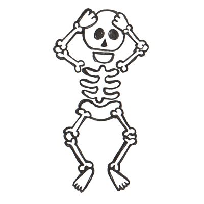 How to Draw Cartoon Skeletons with Step by Step Drawing