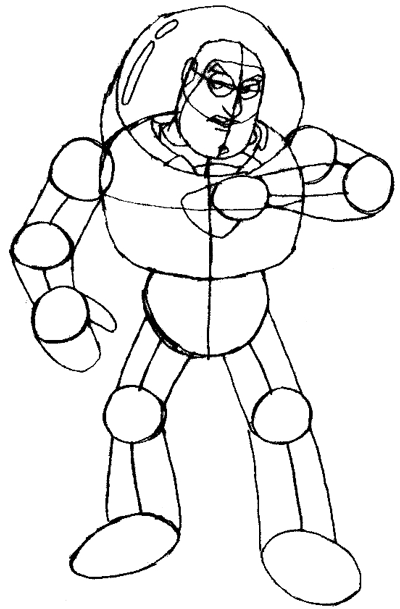 How to Draw Buzz Lightyear from Toy Story 1,2, and 3 with