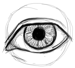 Step 7 : Drawing Realistic Eyes with Simple Steps