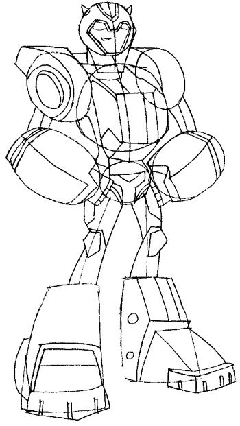 How to Draw BumbleBee from Transformers with Step by Step