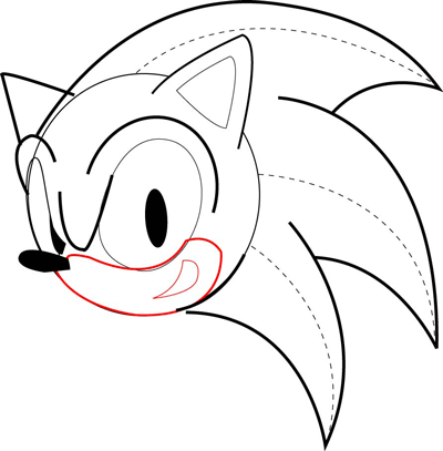 How to Draw Sonic the Hedgehog in Easy Drawing Tutorial