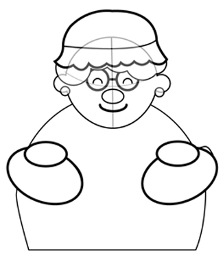 How to Draw Mrs. Clause for Christmas with Easy Step by