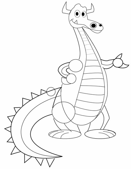 How to Draw Cute Cartoon Dragons With Easy Step by Step