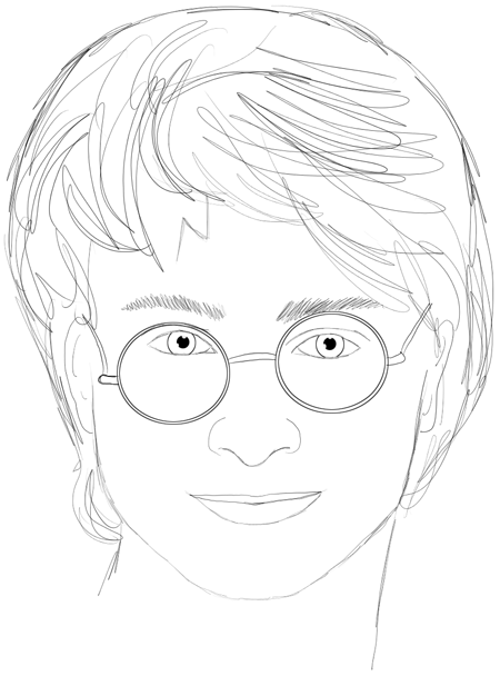 How to Draw Harry Potter Step by Step Drawing Lesson