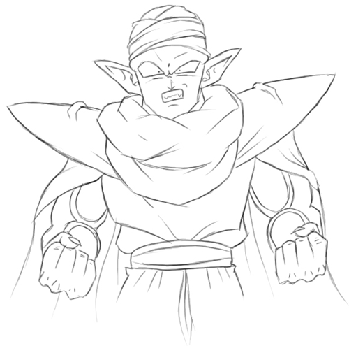 How to Draw Piccolo from Dragon Ball Z with Easy Step by