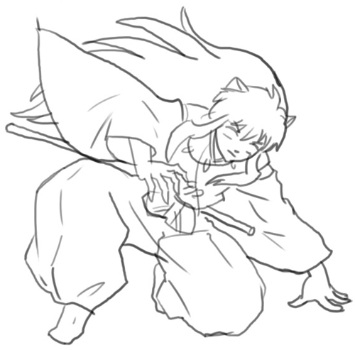 How to Draw Inuyasha with Step by Step Drawing Lesson for