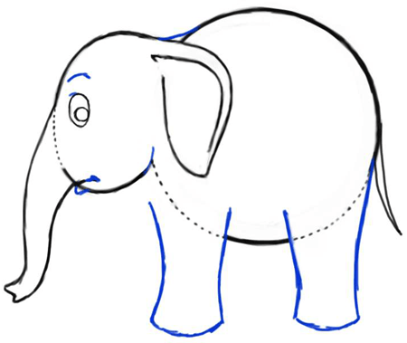 How to Draw Cartoon Elephants with Easy Steps Drawing