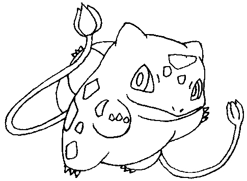 How to Draw Bulbasaur from Pokemon Step by Step Drawing