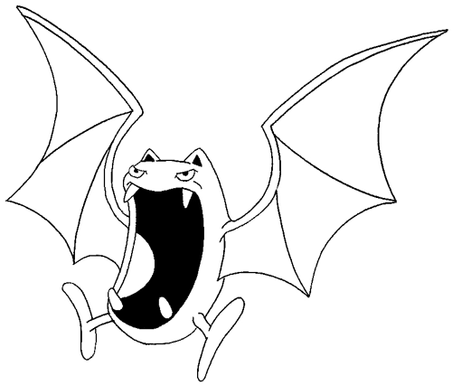 How to Draw Golbat from Pokemon with Step by Step Drawing