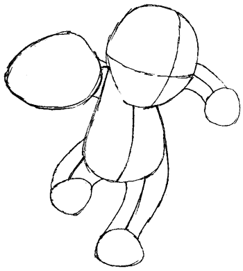 How to Draw Machop from Pokemon with Easy Step by Step