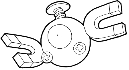 How to Draw Magnemite from Pokemon Step by Step Drawing