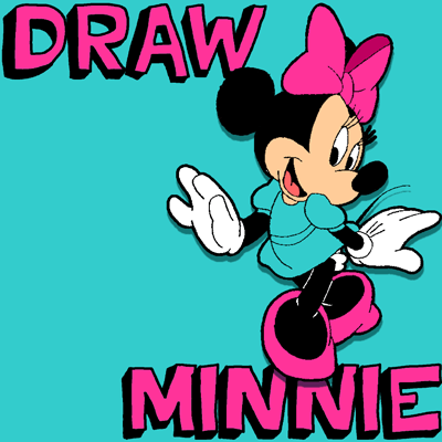 How To Draw Minnie Mouse With Simple Step By Step Drawing Lesson How To Draw Step By Step Drawing Tutorials