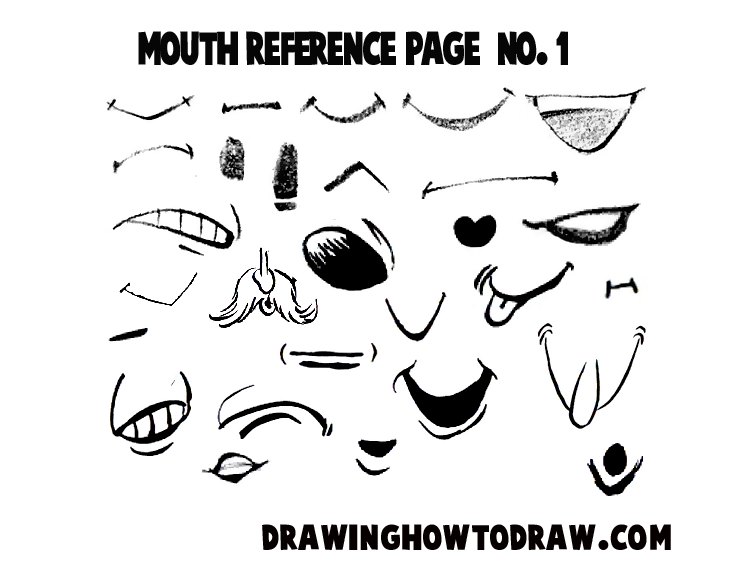 Drawing Cartoon & Illustrated Mouths & Lips Reference