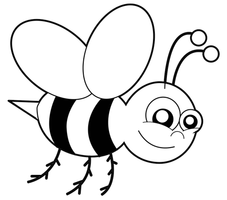How to Draw Cartoon Bumblebees or Bees with Easy Step by