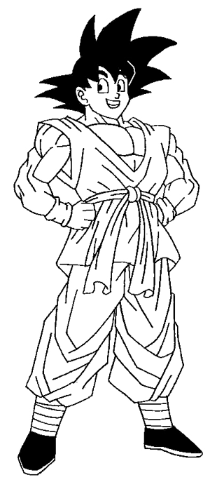 How to Draw Son Goku from Dragon Ball Z Step by Step