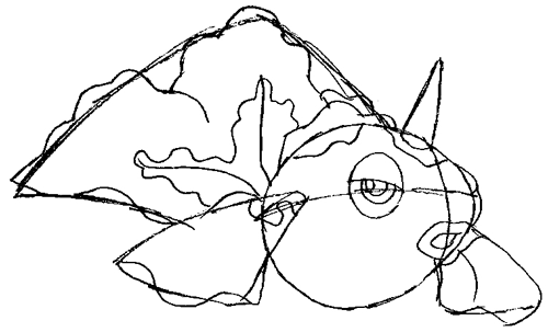 How to Draw Goldeen from Pokemon in Easy Steps Drawing