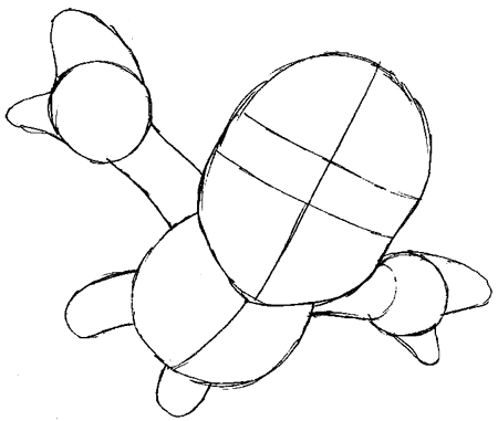 How to Draw Mario Flying from Super Mario Galaxy Drawing
