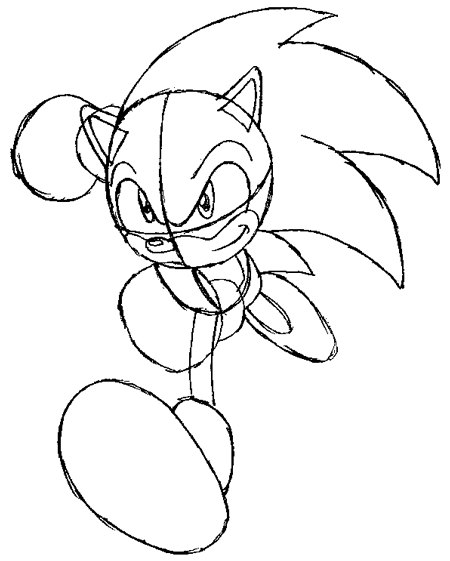 How to Draw Sonic the Hedgehog Running Drawing Lesson