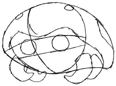 How to Draw Kabuto from Pokemon in Easy Steps Tutorial for