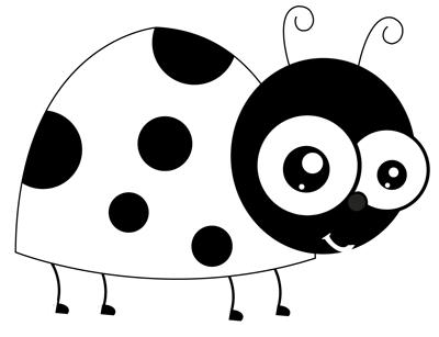 draw cartoon ladybugs