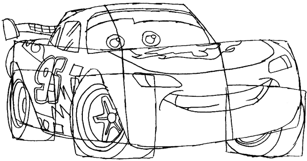 How to Draw Lightning McQueen from Disney Cars Movie