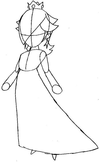 How to Draw Rosalina from Wii Mario Kart Step by Step