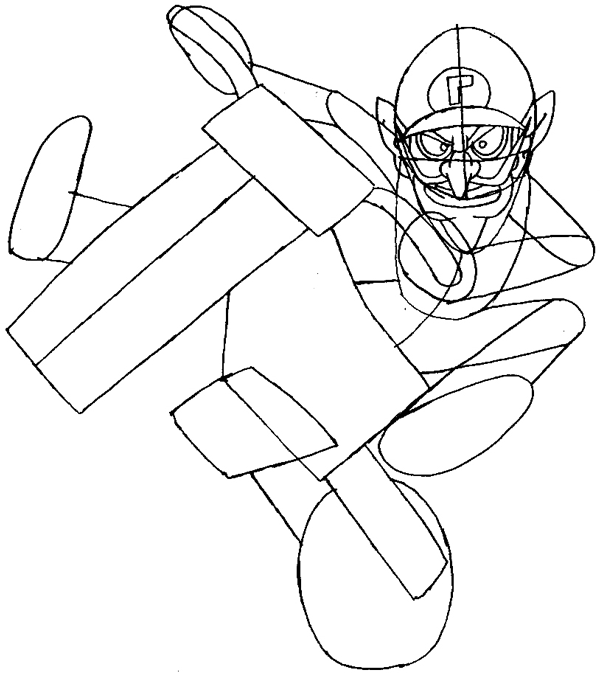 How to Draw Waluigi on a Motor Bike Motorcycle from Wii