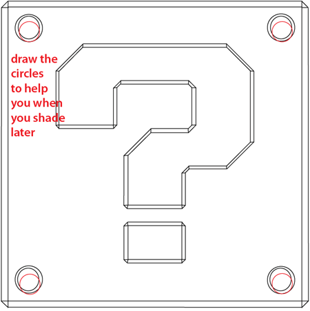 How to Draw a Question Mark Box from Nintendo's Super