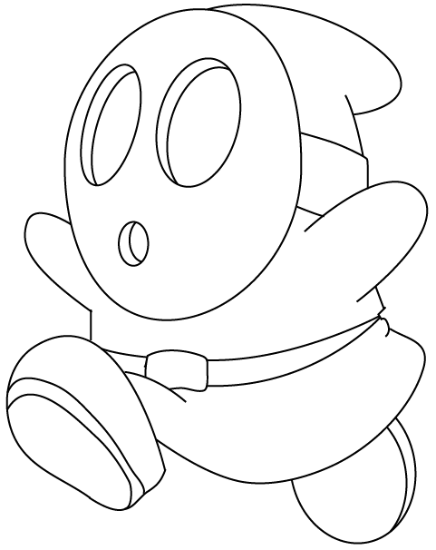 How to Draw Shy Guy from Nintendo's Super Mario in