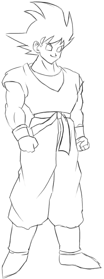 How to Draw Goku from Dragon Ball Z with Easy Step by Step