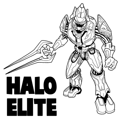 How to Draw The Elite from Halo with Easy Step by Step