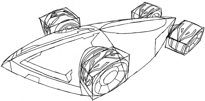 How to Draw the Saber from Hot Wheels Battle Force 5 with